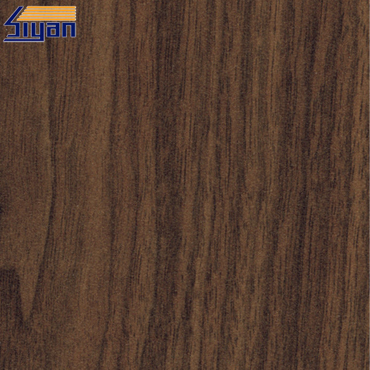 Good Ductility PVC Wood Film  / PVC Sheet Decorative Film For Furniture